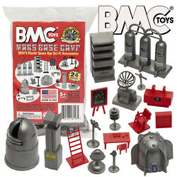 Bmc Marx Cape Canaveral Space Academy Sci-fi Furniture Silver And Red Accessories