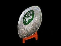 Game Size Crystallized Football New York Jets W/ Genuine Crystals Bling Nfl Ny