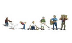 Woodland Scenics - Farm People 7 Pcs Ho Scale Figures Brand New And Packaged
