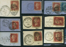 Gb Qv Penny Reds Duplex Full Cancels On Piece Specials Scots Etc Each One Priced