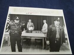 Boxboro Police Officers React Vote For Chief Robert Johnson Wire Press Photo