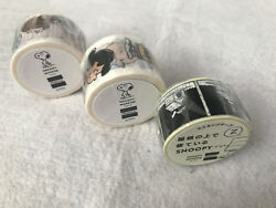 Rare Snoopy Museum Tokyo Le Collectible Washi Tape Sticker Japan Gift You Pick