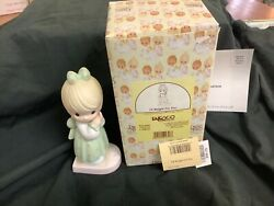 Precious Moments-girl On Scale-i'll Weight For You-rare Limited Edition