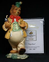 Vintage Papa Bear The Greenwich Workshop Collection Porcelain Figurine Gustafson