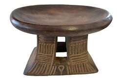 Superb African Bamun Low Milk Stool Cameroon 16.25 W By 10.5 H