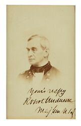 Robert Anderson - Photograph Cdv Signed - Union General Hero Of Fort Sumter