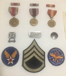 Army Victory Conduct Defense Sharpshooter Air Transport Command Medals Pins Ww2