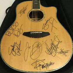 Gf 57th Grammy Breedlove Guitar Signed By Blake Shelton Enrique Iglesias And More