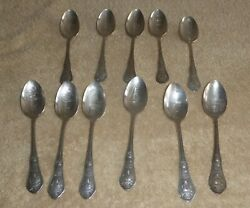 Wm. A. Rogers Lot Of 11 Chicago Souvenir Collectible Spoons Silverplate