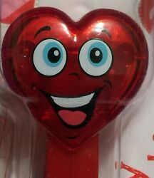 Pez Candy Dispenser Happy Crystal Heart Valentines Day 2020 -6- On Card - Red -