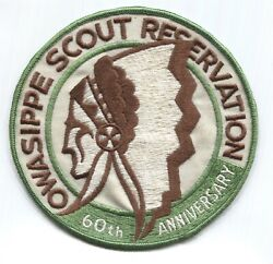Bsa Cac Chicago Area Council - Camp Owasippe Scout Reservation 60th Large Patch