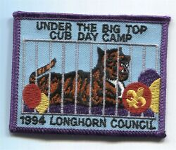 Bsa Longhorn Council Texas Cub Day Camp 1994 Scout Patch - Caged Tiger
