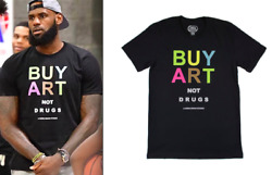 Lebron James As Worn By Laker Basketball Star Buy Art Not Drugs Official T-shirt
