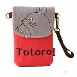 US SELLER *RARE* New TOTORO Canvas Crossbody Purse Bag RED Ghibli Anime $24.99