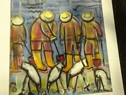 Bill Raneclam Diggers With Sandpipers Artist Proof 1/5 Giclee Pencile Signed