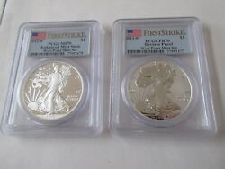 2013-w Silver Eagle First Strike West Point Mint Set Reverse Proof And Enhanced F