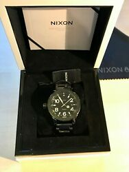 Nixon 42-20 The Ceramic All Black Automatic Swiss Made With Box And Extra Link
