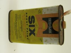 Vintage Hess And Clark Six Roost Paint Can Tin Empty