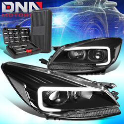 For 2013-2016 Ford Escape Led Drl Black Clear Signal Projector Headlights+tools