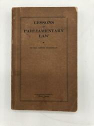 Lessons In Parliamentary Law Lura Craighead Mobile Alabama 1914
