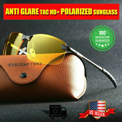 Tac HD Polarized Day Night Vision Glasses Men Aviator Driving Sports sunglasses $8.99