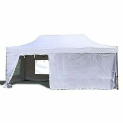 10x20and039 Steel Pop Up Canopy Waterproof Pvc Top Medical Emergency Drive-thru Tent
