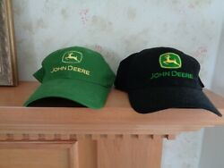 Lot Of 2 John Deere One Size Black And 1 Size Owner's Edition Green Baseball Caps
