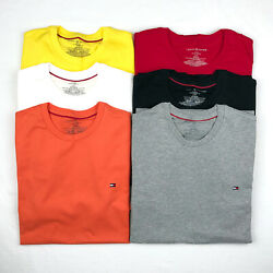 Tommy Hilfiger T Shirt Mens Crew Neck Tee Classic Fit Short Sleeve Solid Shirt $16.99