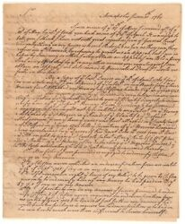 Charles Carroll - Letter Signed - Early Content On George Washington In 1760
