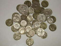 1/2 Lb 8oz Old Us Silver Coins All Pre-1965 Nice Mix 1940's-1964 Read Listing