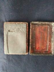 Chinese Old Ink Stone /18133.5‡p Plate Pot Qing Antique Vintage Box