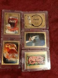 24kt. 999.9 Fine Gold Coca-cola Coke Super Premiumboth From Series 1 And 2 4
