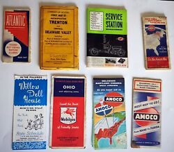 Vintage Oil And Gas Station Advertising Maps And Service Station Management Booklets