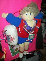 Soft Sculptured Cabbage Patch Doll Olympic Kids Runner Girl Rare Handsigned