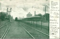 1905. East And West Bound Stations. Crr Of Nj Plainfield, Nj Postcard Ck16