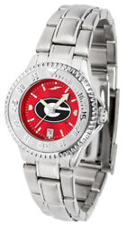Georgia Bulldogs Women's Competitor Anochrome Stainless Steel Watch