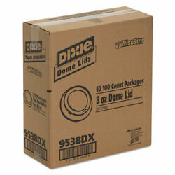 Dixie Drink-thru Lid Fits 8oz Hot Drink Cups White 1000/carton 9538dx Read