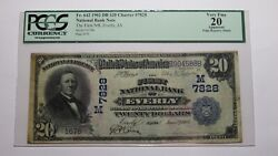 20 1902 Everly Iowa Ia National Currency Bank Note Bill Ch. 7828 Vf20 Pcgs