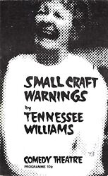 Elaine Stritch Small Craft Warnings Tennessee Williams 1973 London Playbill