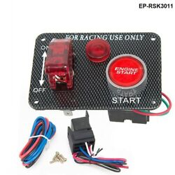 12v Red Led Racing Car Engine Start Push Button Ignition Switch Panel Toggle