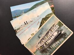 Lot Of 4 Postcards - Great Lakes And Hudson River Steamers