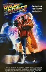 Michael J Fox Signed Back To The Future Part Ii 24x36 Movie Poster Coa Private