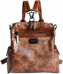 Mini Backpack Purse for Women AB Earth Convertible Waterproof Rucksack Faux Le $44.99