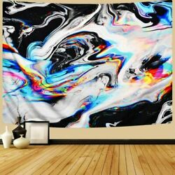 OZMI Psychedelic Art Tapestry Tapestry Wall Hanging Colorful Gouache Natural L