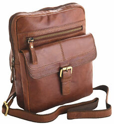 Unisex Adults#x27; Honeydew Leather Small Messenger for Men amp; Ladies Luxury Quality $114.25