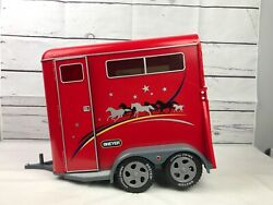 Large 14 Breyer Traditional Red Horse Trailer 2002