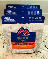 New Mountain House Lasagna With Meat Sauce Freeze Dried Three 3 Pouches 🔥🔥🔥