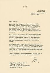 Dwight D. Eisenhower - Typed Letter Signed - Re/ Douglas Macarthurand039s Death
