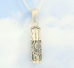 Moonstone In 925 Sterling Silver Cremation Urn Necklace June Birthstone Jewelry