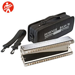 Hohner Orchestra Series Bass 78 The Big Bass Chromatic Harmonica With Case